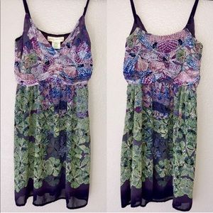 NWT Urban Outfitters purple and green flowy dress